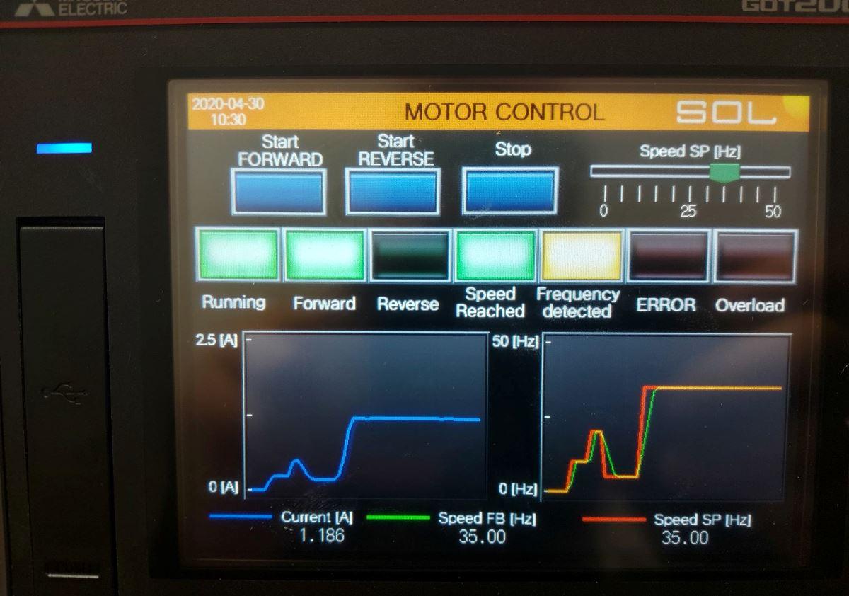 Zdjęcie ekranu panela wizualizacyjnego